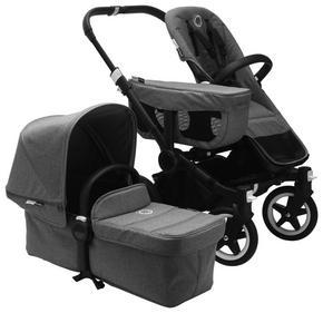 bugaboo donkey2 classic collec - alufärgad/grå, Design, metall/textil (90/60/90cm) - Bugaboo