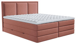 BOXSPRINGBETT 180/200 cm  in Altrosa  - Altrosa, Design, Kunststoff/Textil (180/200cm) - Xora