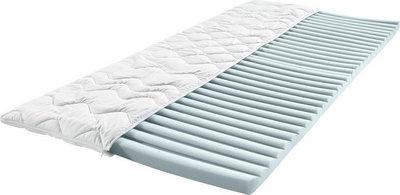 Sleeptex Topper , Weiß , Textil , H1 + H2 , 140x200 cm , Textiles Vertrauen - Oeko-Tex® , Bezug abnehmbar/waschbar, für Hausstauballergiker geeignet , Schlafzimmer, Matratzentopper & Zubehör, Topper