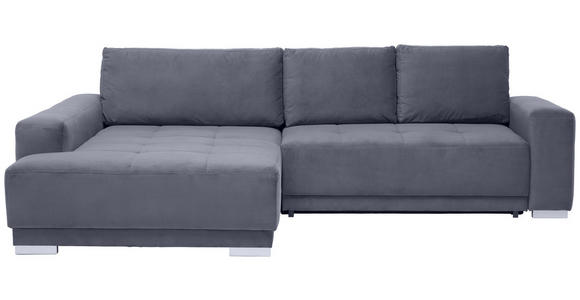 WOHNLANDSCHAFT in Textil Grau  - Silberfarben/Grau, Design, Holz/Textil (195/293cm) - Cantus