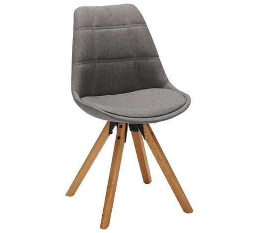 STUHL in Textil Eichefarben, Hellgrau - Eichefarben/Hellgrau, Design, Holz/Textil (49/87,5/56cm) - Carryhome