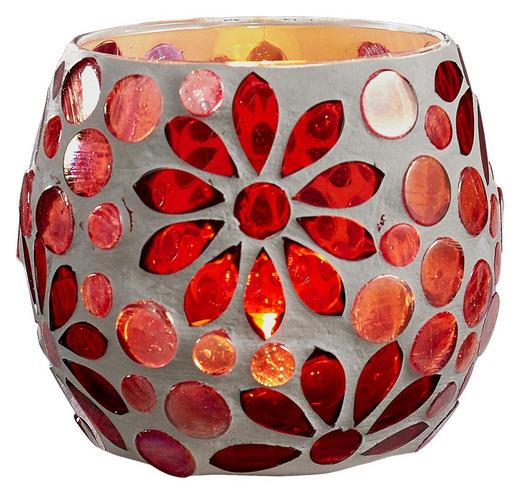 WINDLICHT - Pink/Rot, Trend, Glas (10/9cm) - Ambia Home