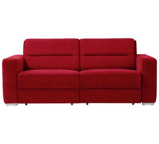 SCHLAFSOFA in Textil Dunkelrot - Dunkelrot, KONVENTIONELL, Textil/Metall (202/86/92cm) - Sedda