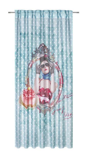 KONČANA ZAVESA LADY DAISY - večbarvno, Trendi, tekstil (140/245/cm) - Esposa
