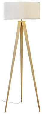 STEHLEUCHTE - Eichefarben, Design, Holz/Textil (50/136cm) - Novel