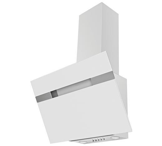 Dunstabzugshaube 60233 - Weiß, Basics, Glas/Metall (60/94,5-113,5/37,5cm) - Mican
