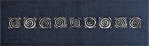 FUßMATTE 60/180 cm Graphik Dunkelblau - Dunkelblau, Kunststoff/Textil (60/180cm) - Esposa