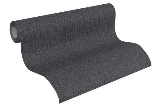 VLIESTAPETE 10,05 m - Schwarz, Design, Textil (53/1005cm)