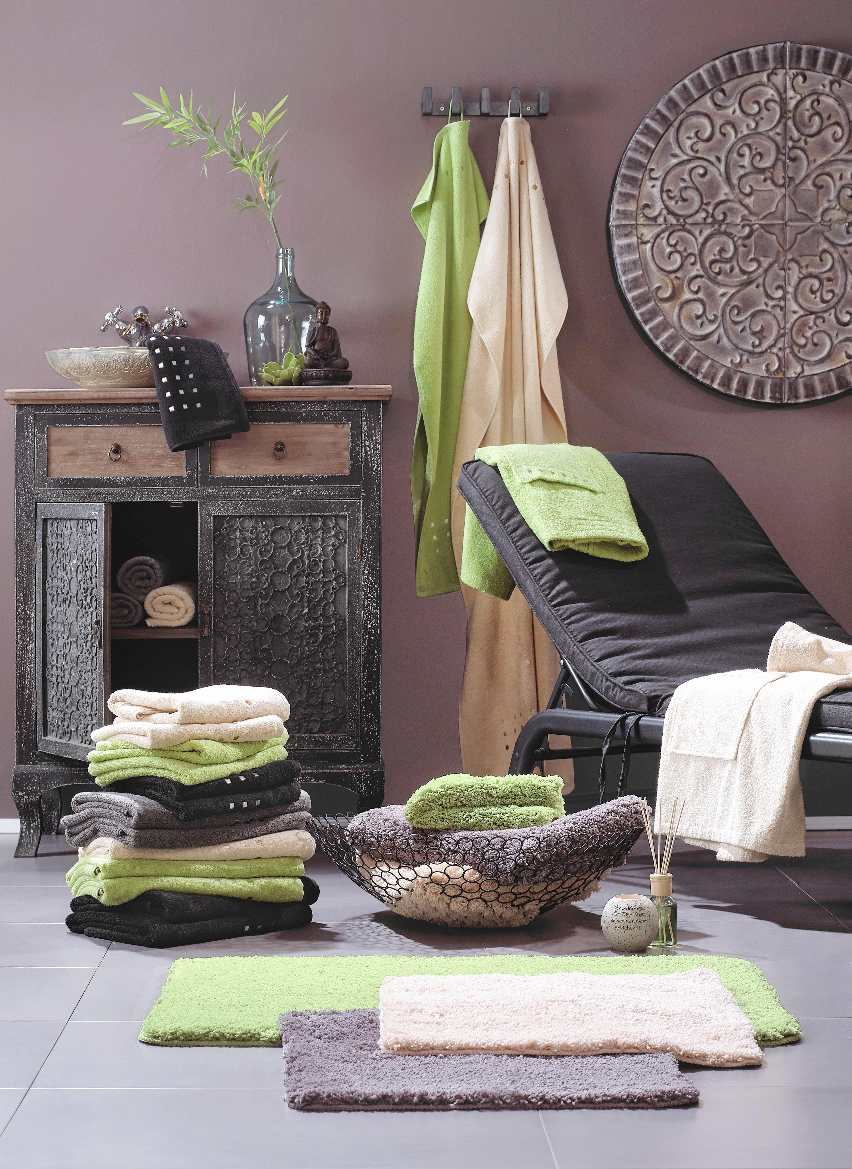 DUSCHHANDDUK - grå, Basics, textil (70/140cm) - ESPOSA