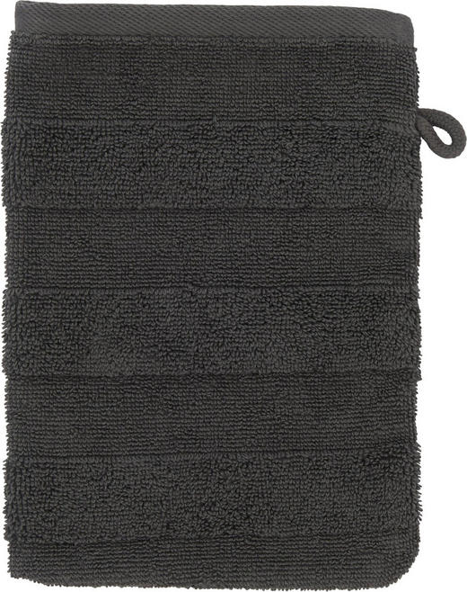 WASCHHANDSCHUH  Anthrazit - Anthrazit, Basics, Textil (16/22cm) - Linea Natura