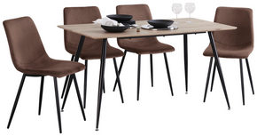 MATGRUPP - svart/mörkbrun, Klassisk, metall/träbaserade material - Carryhome