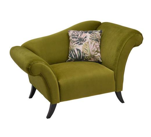 KŘESLO, textil, olivově zelená - tmavě hnědá/vícebarevná, Trend, dřevo/textil (138/84/85cm)