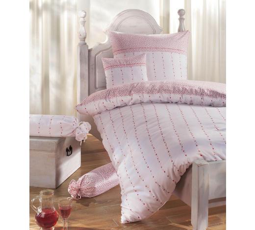 Bettwäsche 135x200 In Rosa Und Weiß