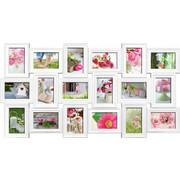 Collagen-bilderrahmen in Weiß - Weiß, Basics, Glas/Kunststoff (102/52cm)