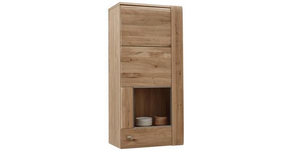 HÄNGEVITRINE Eiche furniert, massiv Eichefarben - Eichefarben/Alufarben, KONVENTIONELL, Holz/Holzwerkstoff (56/120/37,7cm) - Voleo