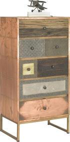KOMMODE in massiv Sheesham Multicolor - Messingfarben/Multicolor, Trend, Holz/Holzwerkstoff (60/120/40cm) - Ambia Home