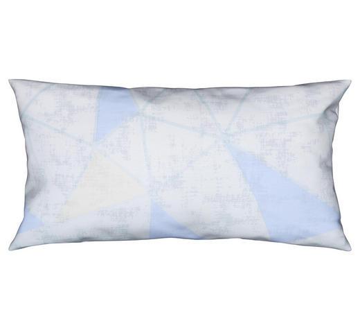 KISSENHÜLLE Blau, Weiß 40/80 cm  - Blau/Weiß, Design, Textil (40/80cm) - Novel