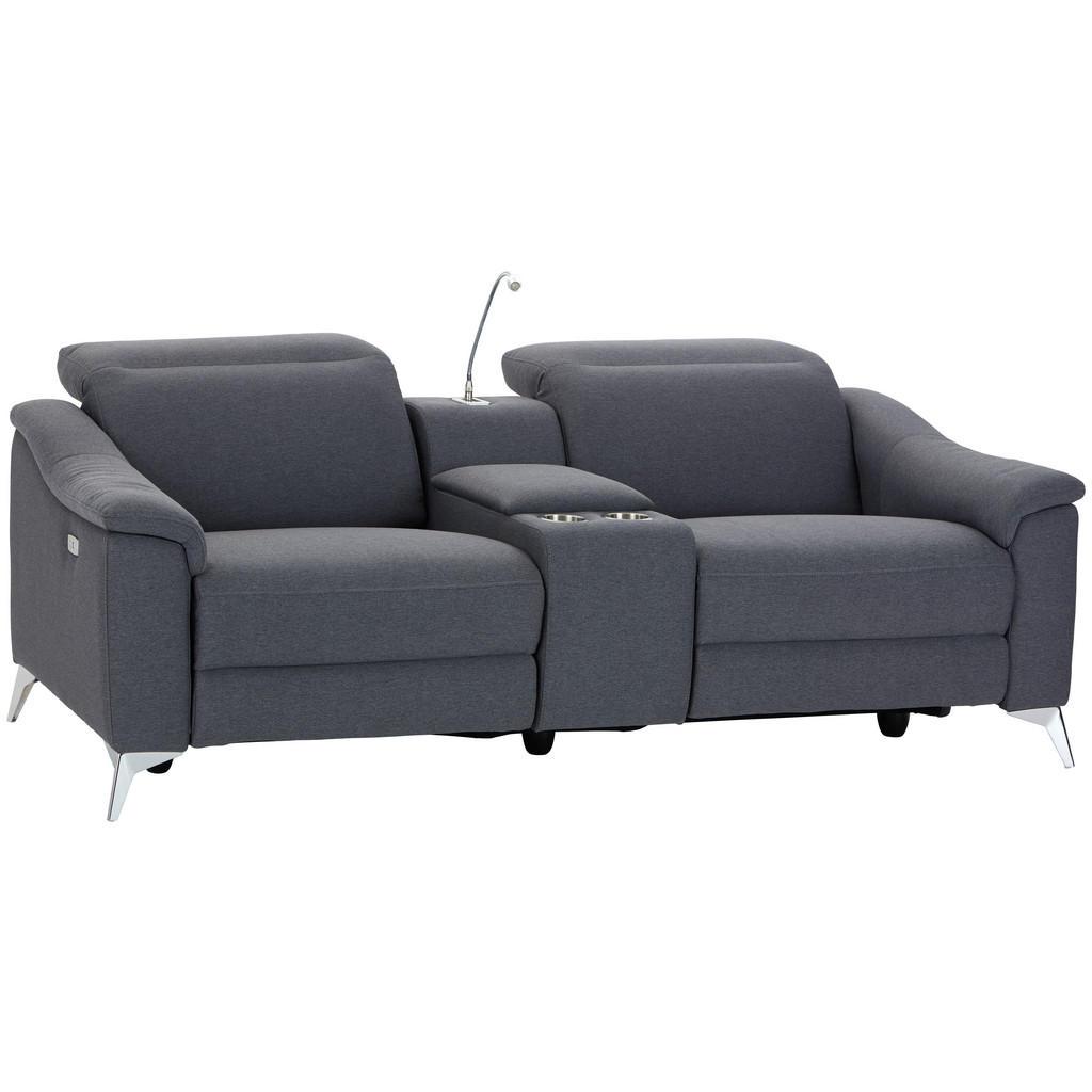 MID.YOU Heimkino-sofa mikrofaser grau