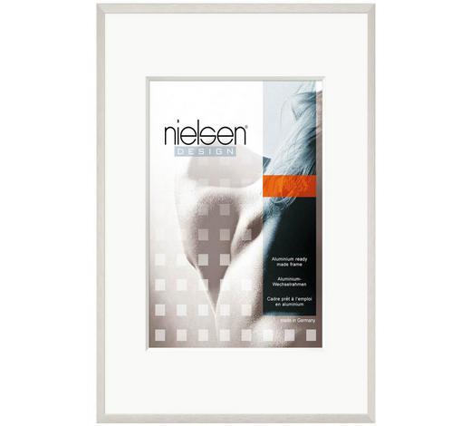 BILDERRAHMEN  Silberfarben  - Silberfarben, Basics, Glas/Metall (13/18cm) - Nielsen
