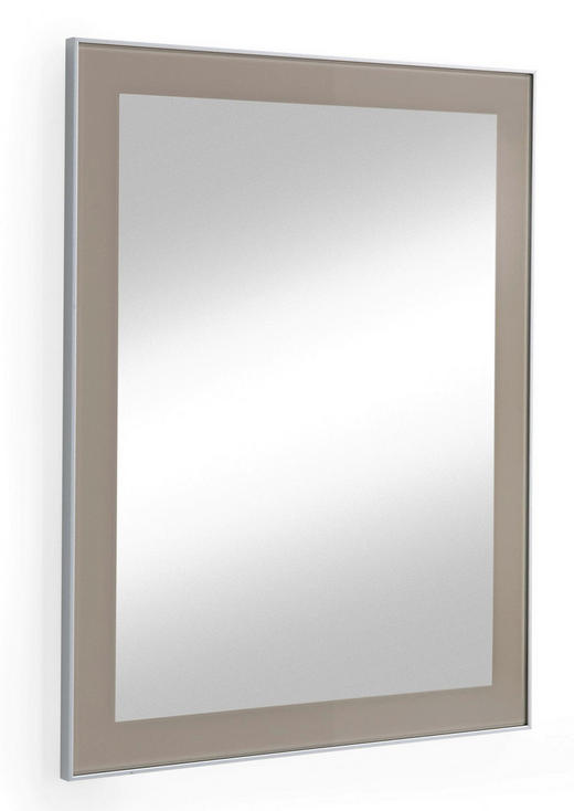 SPIEGEL - Taupe, Design, Glas (60/77cm) - Novel
