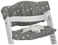 HOCHSTUHLEINLAGE   grau mit Sterne   Lunch  - Grau, Basics, Textil (23/42cm) - My Baby Lou