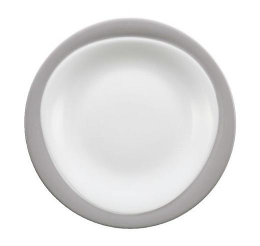 FRÜHSTÜCKSTELLER Porzellan - Weiß/Grau, Basics (23cm) - SELTMANN WEIDEN
