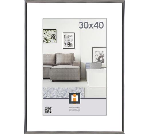 RÁM NA OBRAZY, barvy stříbra - barvy stříbra, Basics, umělá hmota/sklo (31/41cm)