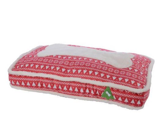 HUNDEKISSEN - Rot/Weiß, Textil (75/11/50cm)