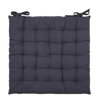 SITZKISSEN 40/40/3 cm - Grau, Basics, Textil (40/40/3cm) - Boxxx