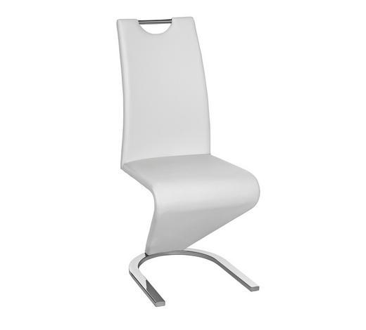 SCHWINGSTUHL in Metall, Textil Weiß, Chromfarben - Chromfarben/Weiß, Design, Textil/Metall (45/102/62cm)