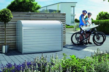 Fahrrad oder Aufbewahrungsbox aus Metall grau
