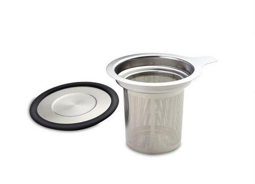 TEESIEB - Edelstahlfarben/Schwarz, KONVENTIONELL, Kunststoff/Metall (8,8cm)