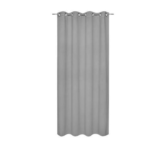 ZÁVĚS HOTOVÝ - antracitová, Basics, textilie (140/245cm) - Esposa