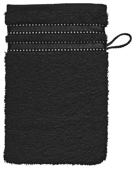 WASCHHANDSCHUH - Schwarz, Basics, Textil (16/22cm) - VOSSEN