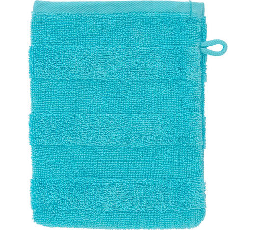 WASCHHANDSCHUH - Blau, Natur, Textil (16/22cm) - Linea Natura