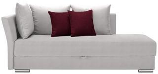LIEGE in Textil Rot, Weiß  - Chromfarben/Rot, Design, Kunststoff/Textil (220/93/100cm) - Xora