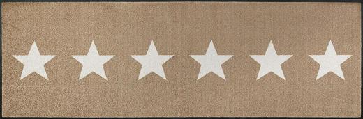 FUßMATTE 60/180 cm Stern Beige - Beige, Kunststoff/Textil (60/180cm) - Esposa