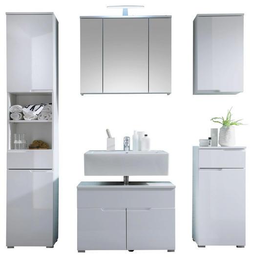 Badezimmer 5-teilig inkl. Bel. Weiß - Weiß, Design (160/199/46cm) - Xora
