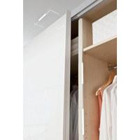 AUFBAULEUCHTE 3-teilig - Alufarben, Design, Metall - Hom`in