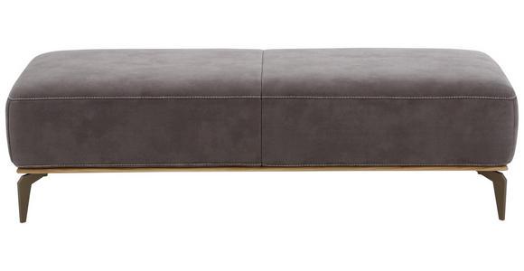 HOCKER Mikrofaser Braun  - Beige/Bronzefarben, Design, Textil/Metall (151/42/61cm) - Valnatura