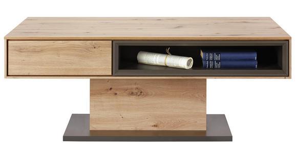 COUCHTISCH in Holzwerkstoff 115/65/44 cm - Eichefarben/Grau, Design, Holzwerkstoff (115/65/44cm) - Hom`in