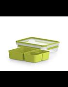 POSODA ZA MALICO - zelena/prozorna, Basics, umetna masa (22,5/16,3/5,8cm) - Tefal