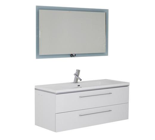 BADEZIMMER - Weiß, Design, Glas/Holzwerkstoff (120cm)
