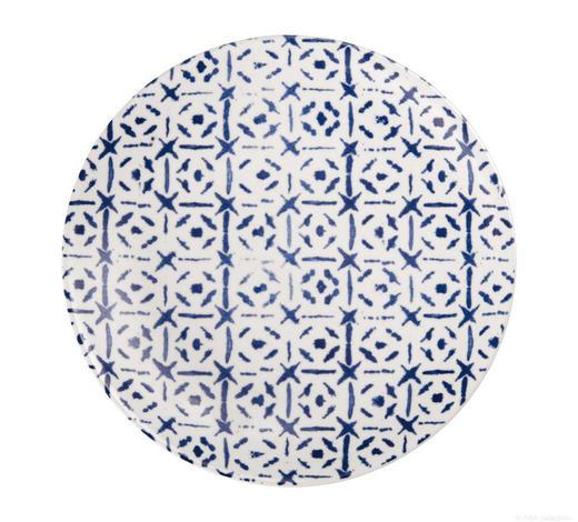 DESSERTTELLERSET Steinzeug   - Blau/Weiß, Keramik (20cm) - ASA