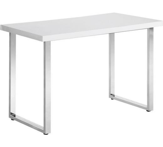 SCHREIBTISCH Weiß, Chromfarben  - Chromfarben/Weiß, Design, Kunststoff/Metall (120/75,5/60cm) - Hom`in
