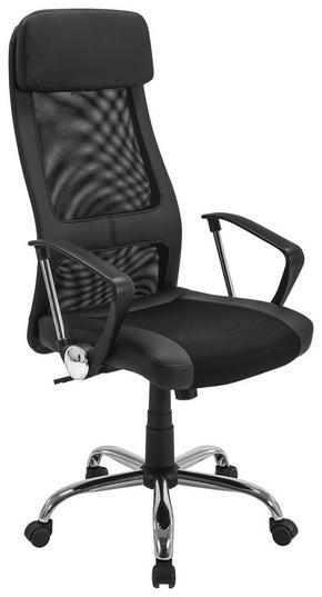 SNURRSTOL - kromfärg/svart, Design, metall/textil (61/118-128/64cm) - Boxxx