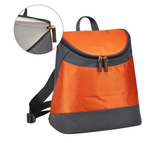 KÜHLTASCHE Grau, Orange - Orange/Grau, Basics, Textil (31/30/18cm)