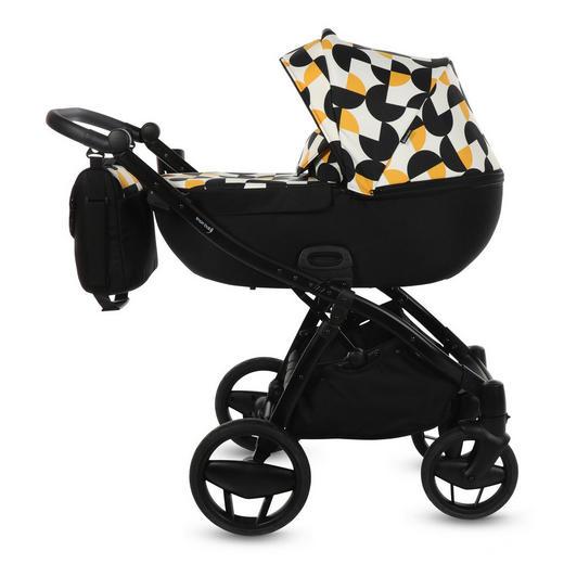 Piquetto One Limited Edition  Knorr-Baby Kinderwagenset  Gelb, Schwarz - Gelb/Schwarz, Basics, Textil/Metall (60/107/110cm)