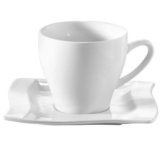 ŠÁLEK NA ESPRESSO S PODŠÁLKEM, porcelán - bílá, Konvenční, keramika (6,9/5,5cm) - Novel