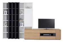 WOHNWAND in Anthrazit, Weiß, Eichefarben  - Eichefarben/Anthrazit, Design, Holz/Holzwerkstoff (341/215/47cm) - Dieter Knoll